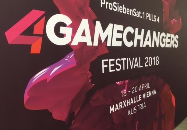 Plakat des 4Gamechangers-Festivals 2018