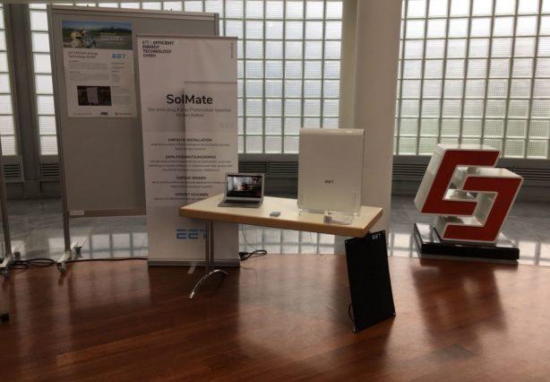 Stand von SolMate bei der Innovation Challenge der Salzburg AG